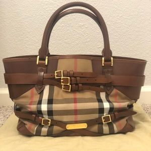 Burberry bridle house check lynher medium tote
